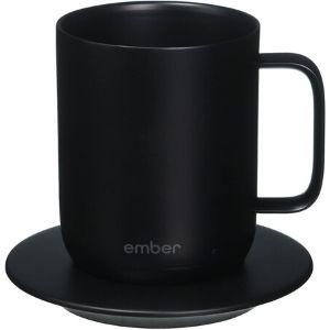 Image of black Ember smart mug and coaster