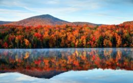 Vermont mountains with fall colors