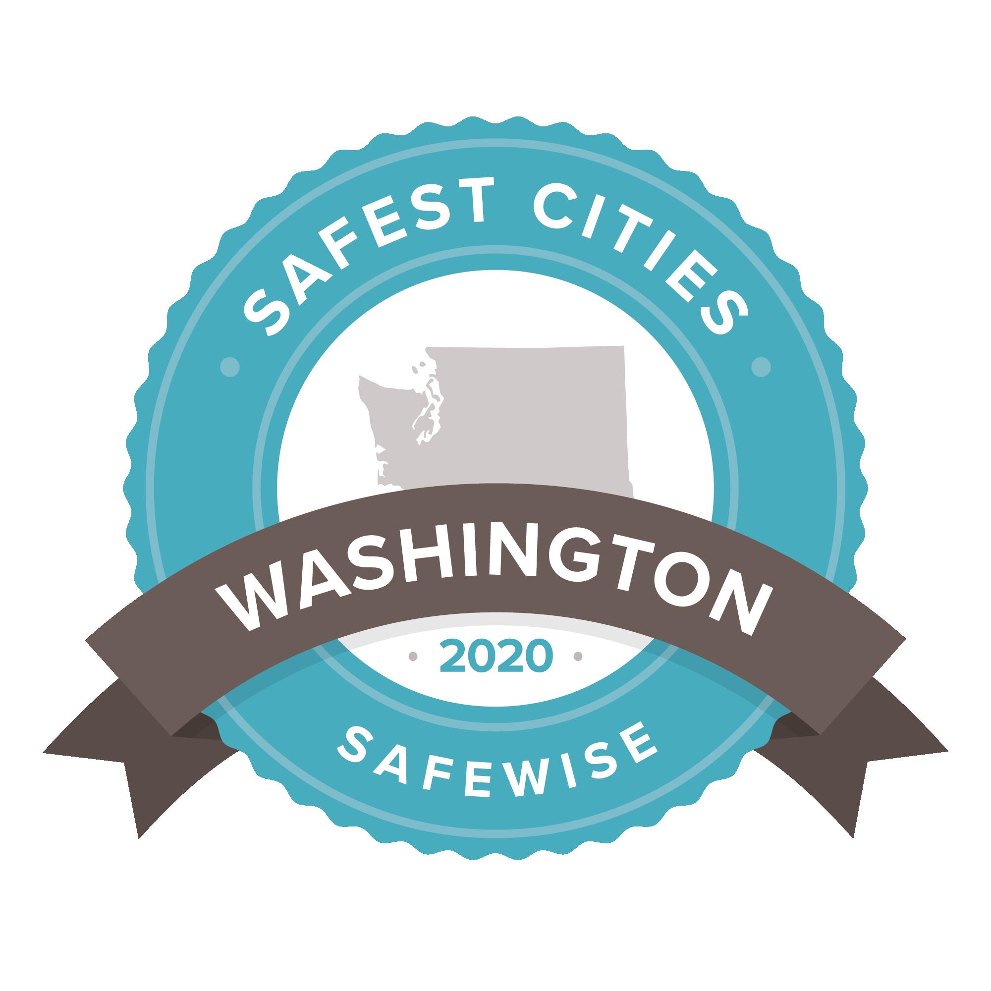 Safest Cities in Washington 2020 badge