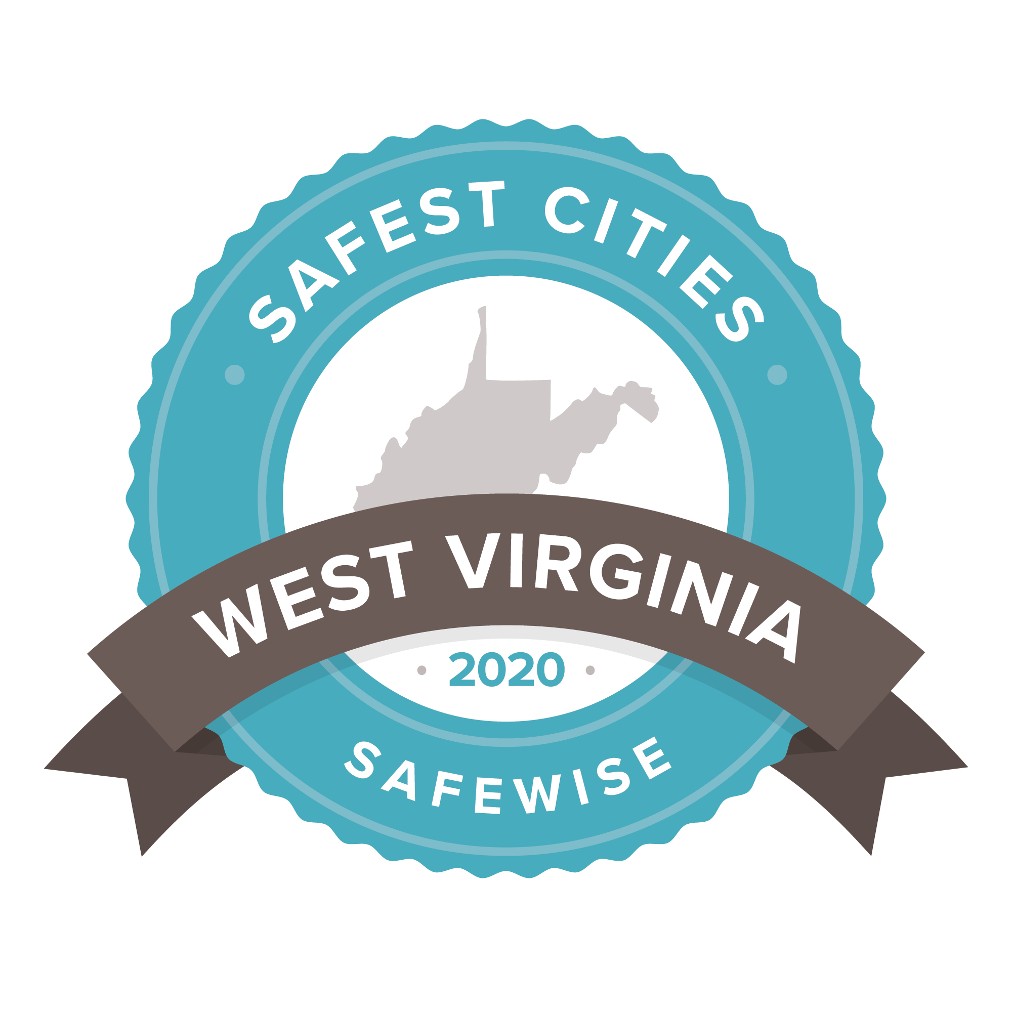 SafeWise Safest Cities in West Virginia 2020 badge