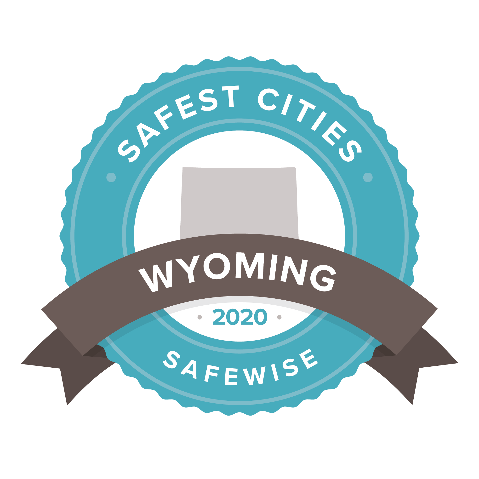 SafeWise Safest Cities in Wyoming 2020 badge