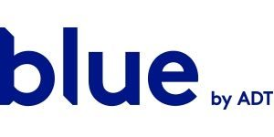 logo for blue by adt