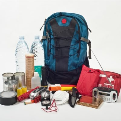 backpack with emergency supplies