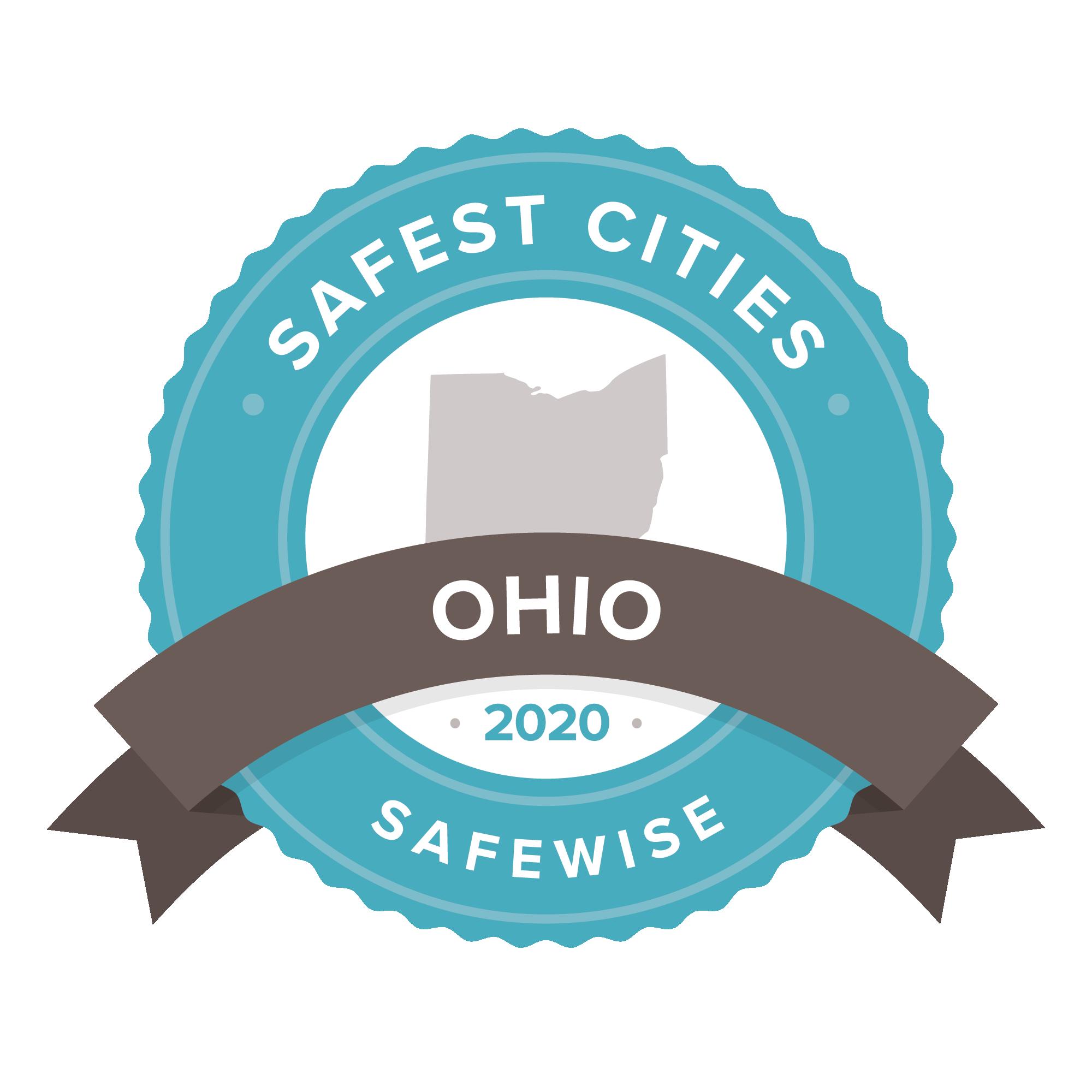 Ohio safest cities badge