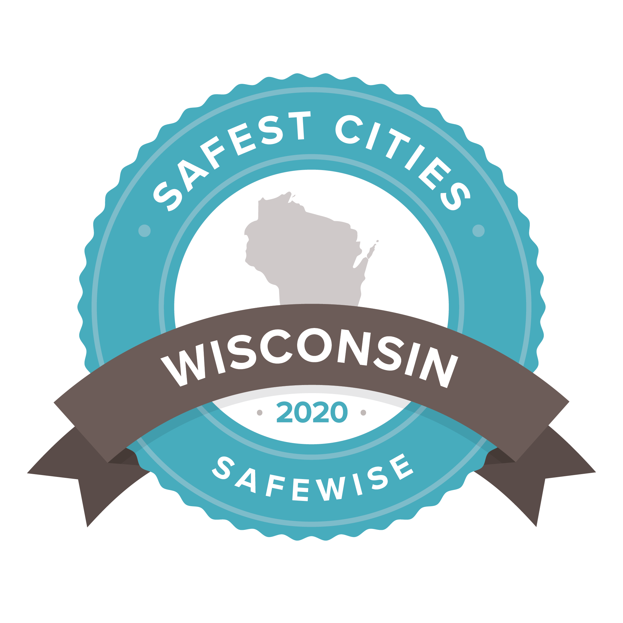 SafeWise Safest Cities in Wisconsin 2020 badge