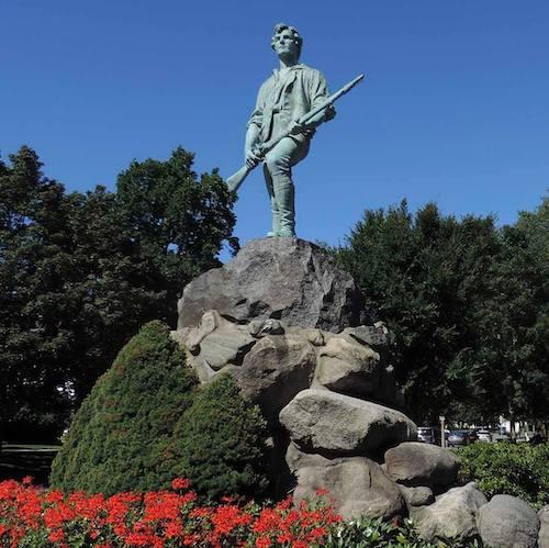 Minute Man statue in Lexington, MA