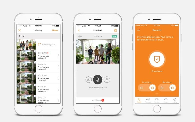 Vivint Smart Home app doorbell controls