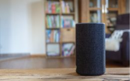 smart speaker in living room