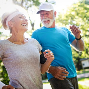 older couple on a jog