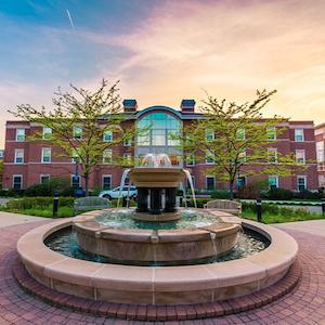 Elmhurst College campus in Elmhurst, Illinois