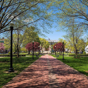 Endicott College campus in Beverly, Massachusetts