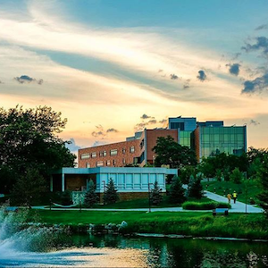 Oakland University campus in Rochester Hills, Michigan