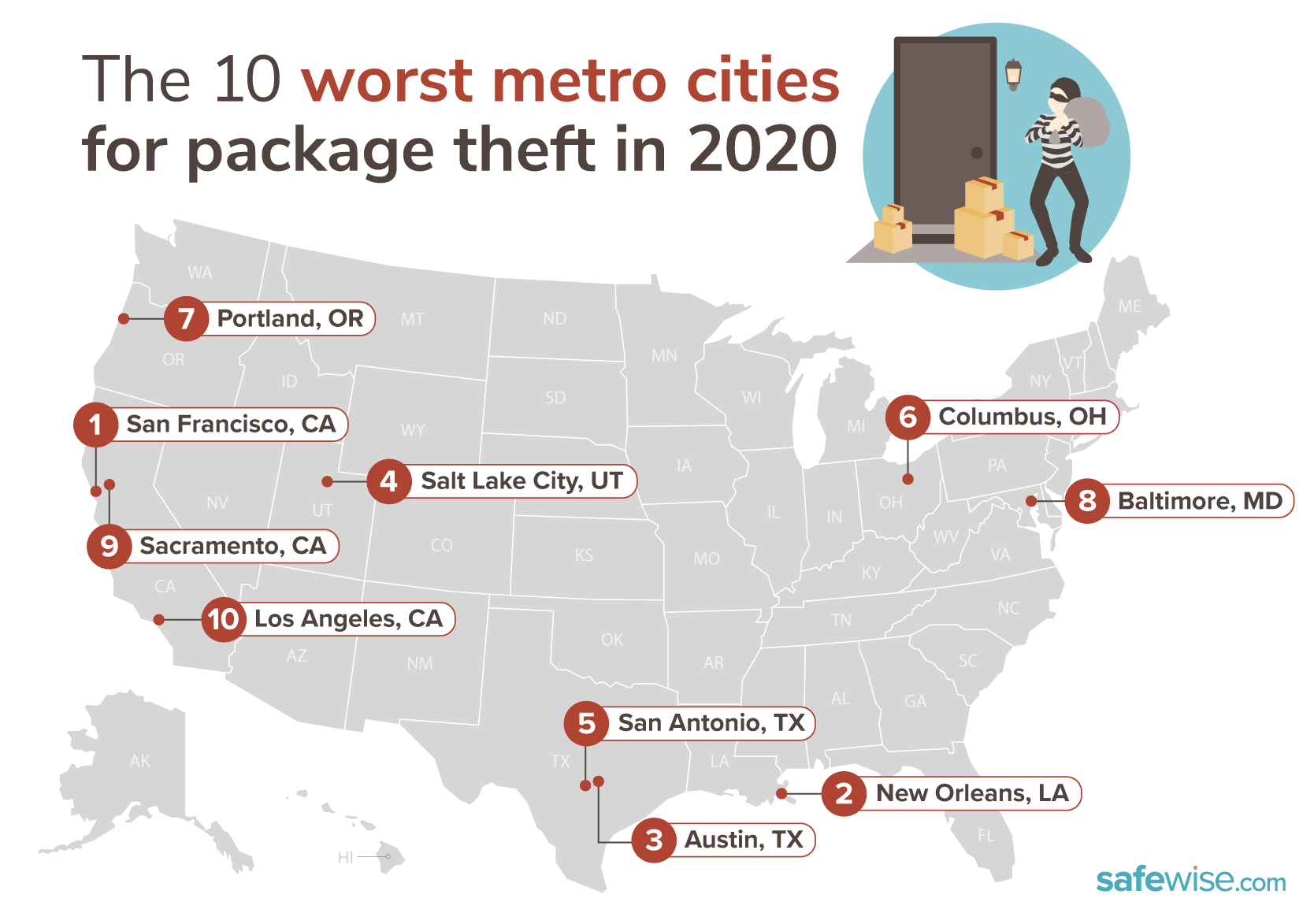 Package theft map