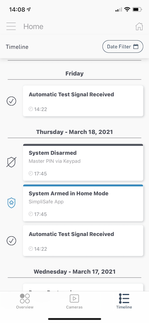 SimpliSafe App Notifications