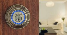 lock installed on outside door