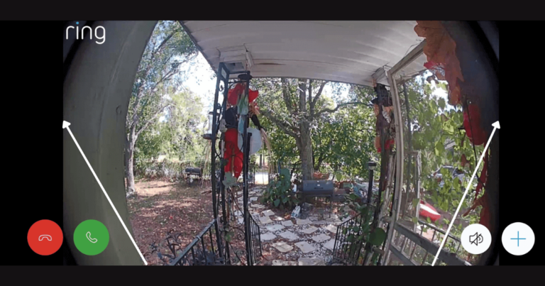 doorbell camera field of view