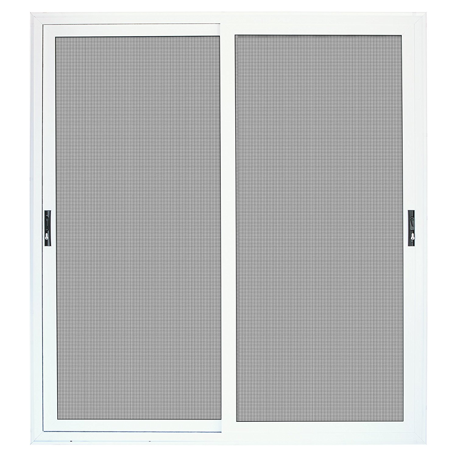 Sliding security door with meshtec