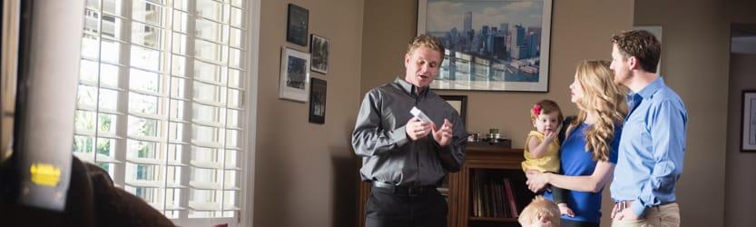 ADT expert speaks to family