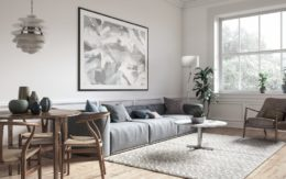 well lit living room