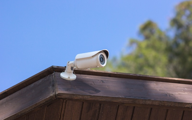 Security camera outside of home