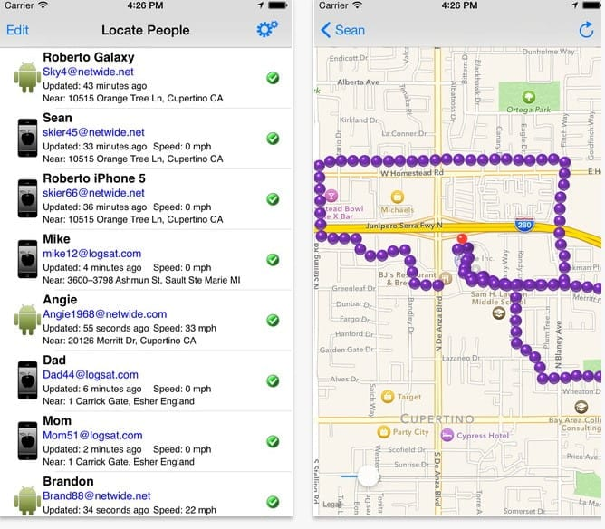 Fmily Tracker can help you map every step of your trick-or-treaters adventure