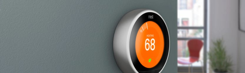 Nest thermostat at home