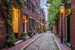 cobblestone street in massachusetts