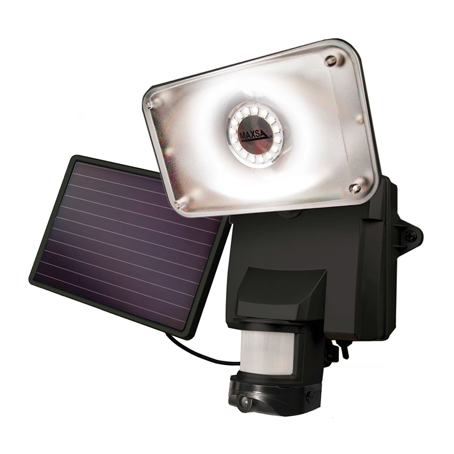 product image of a maxsa solar-powered security light and camera
