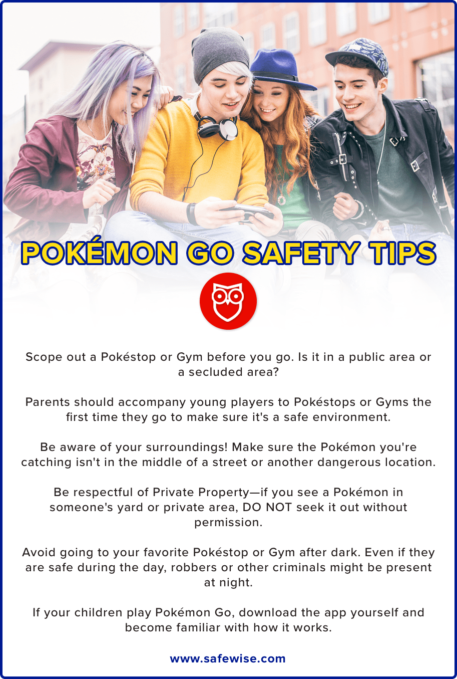 Pokemon Go Safety Tips Long Complete Border