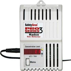 Safety Siren radon gas detector