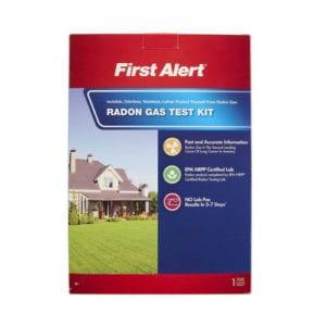 First Alert radon gas test kit