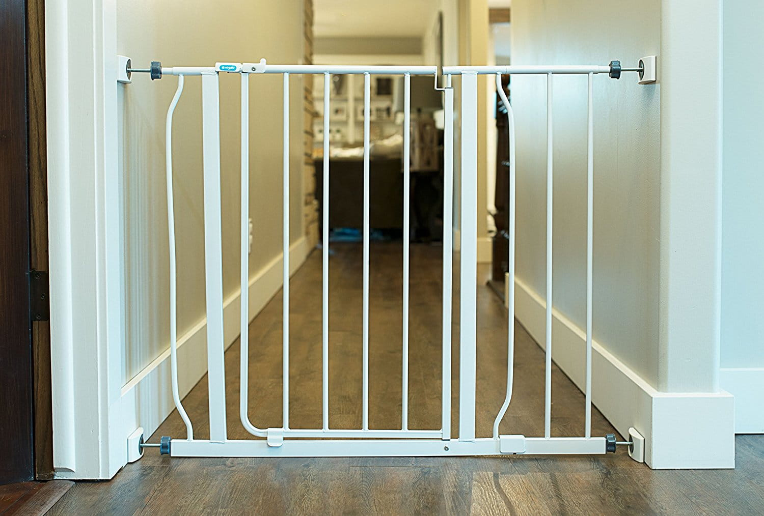 image of wall nanny with safety gate in home