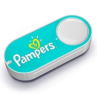 Green Pampers dash button