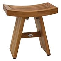 brown wooden aquatek shower bench