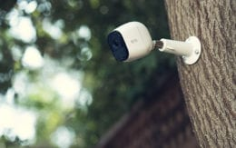 Arlo Pro Wireless Camera installed on a tree