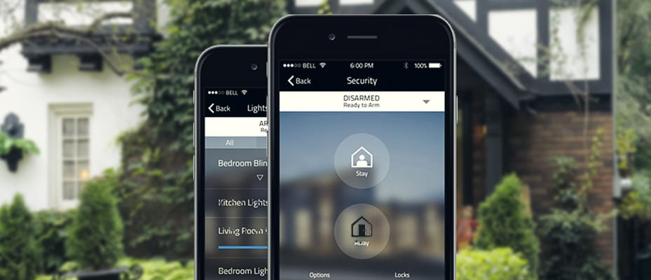 photo of Think Protection Home Security App on smartphone