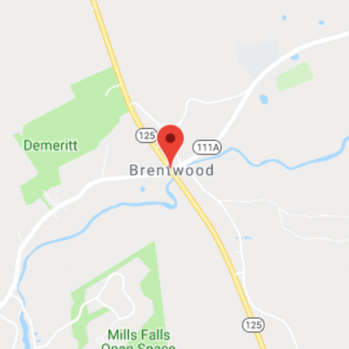 map of brentwood, nh