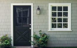 photo of side door to a house