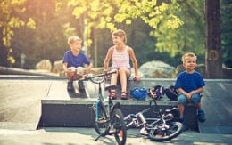 picture of kids resting at a park