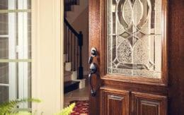open front door with lock