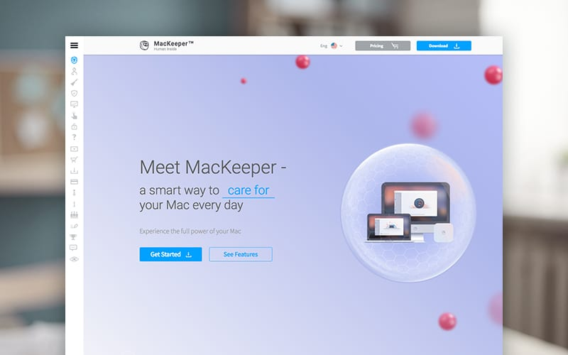 screenshot of MacKeeper on laptop screen