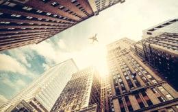 scenic photo of metro city