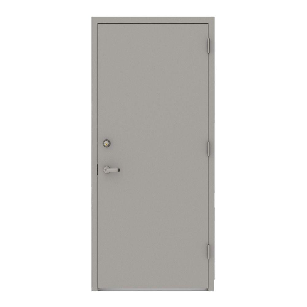 Gray commercial security door
