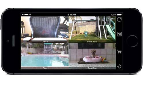iCam app you can monitor security camera from your mobile phone