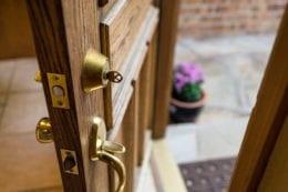 ront Door Left Open with Key in Lock