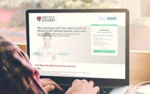 Identity Guard on Laptop