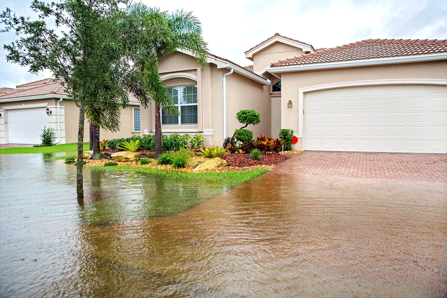 House being flooded from a hurricane