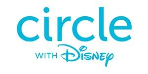 blue circle with Disney logo