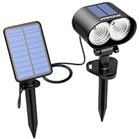 solar spotlight with solar panel
