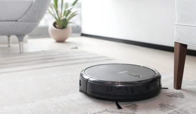 photo of Roomba on living room floor